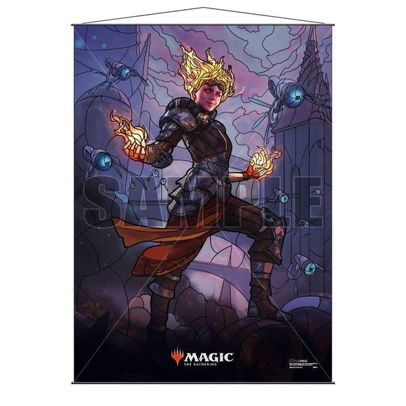 Magic the Gathering: Stained Glass Planeswalkers Wall Scroll - Chandra