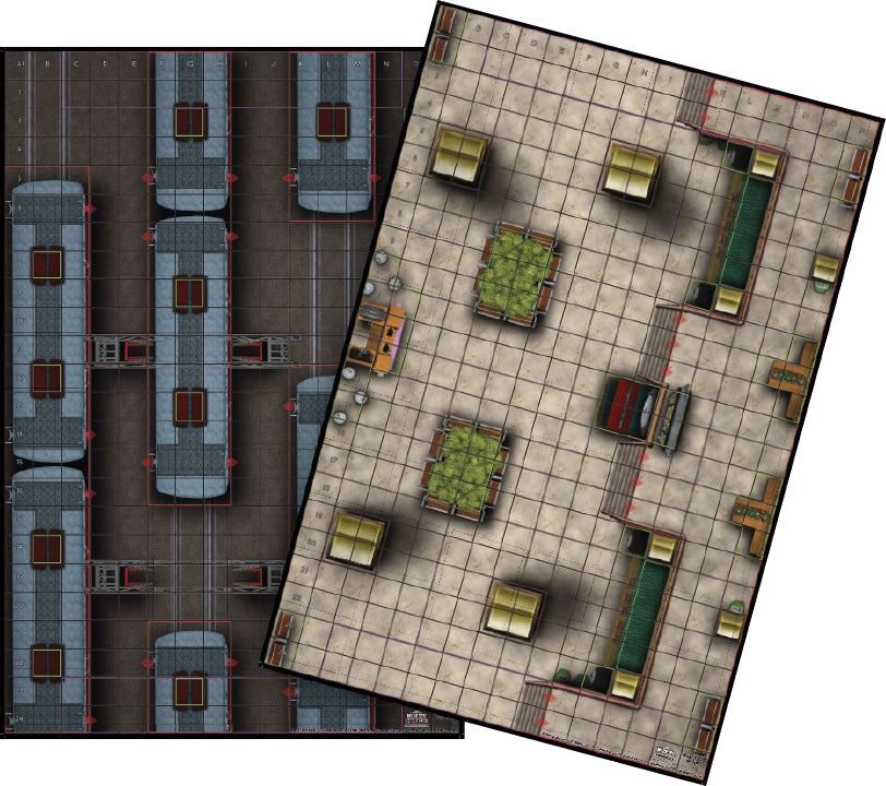 HeroClix: Train Station/Train Yard Map