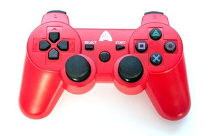 PS3 Controller, Wireless Rechargeable Bluetooth - Red