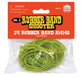 Rubber Bands for Toy Pistols (24 per Pack)
