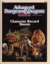 Load image into Gallery viewer, Advanced Dungeons & Dragons 2nd Edition: Spell Sheets & Player Character Generation Worksheets