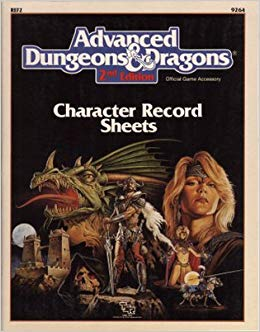Advanced Dungeons & Dragons 2nd Edition: Spell Sheets & Player Character Generation Worksheets