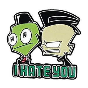 Invader Zim - I Hate You Collectible Pin