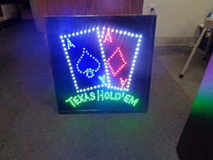 LED Animated Sign - Texas Hold 'Em