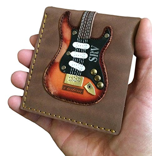 SRV Signature Electric Guitar Wallet - Handmade from Genuine Leather