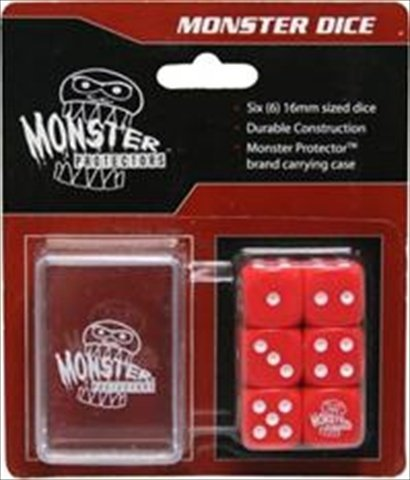 Monster Dice With Carrying Case: Red