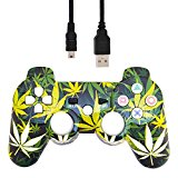 PS3 Bluetooth Controller - Leaf Design (Chronic)
