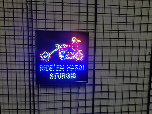 LED Animated Sign - Ride 'Em Hard Sturgis