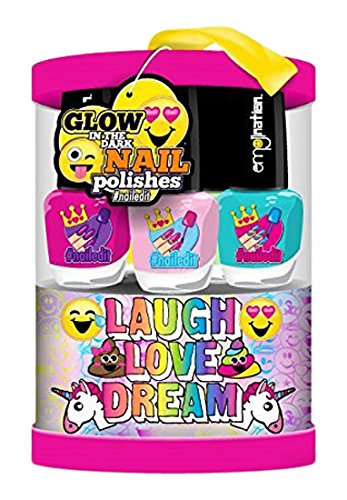 Emojination Glow in the Dark Nail Polish, Set of 6