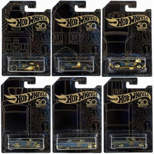 Load image into Gallery viewer, Hot Wheels 50th Anniversary Black & Gold Die-Cast Car