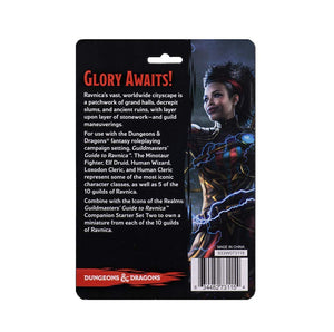 Dungeons & Dragons Fantasy Miniatures: Icons of the Realms Set 10 Guildmaster`s Guide to Ravnica Companion Starter One