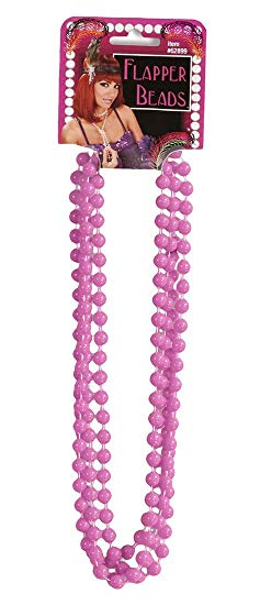 Roaring 20's Flapper Beads, Pink