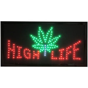 LED Animated Sign - HIGH LIFE
