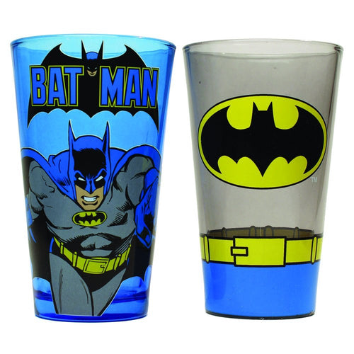 Batman Pint Glass Set, 2-Pack