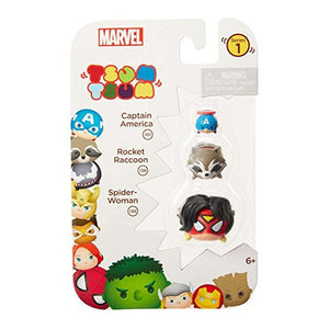 Marvel Tsum Tsum 3-Pack: Spider-Woman/Rocket Raccoon/Captain America