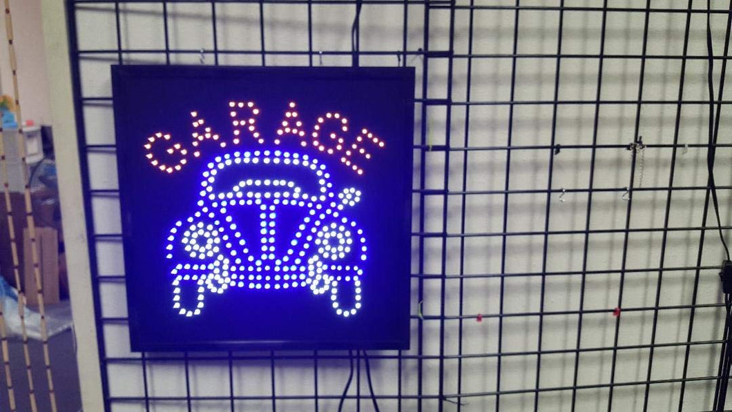 LED Animated Sign - Garage