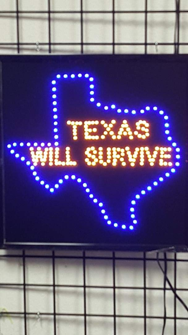 LED Animated Sign - Texas Will Survive
