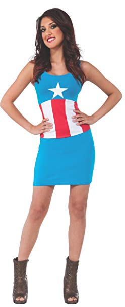 Marvel Universe Captain America Tank Dress, Small