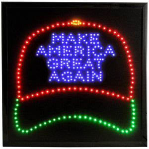 LED Animated Sign - Make America Great Again Cap