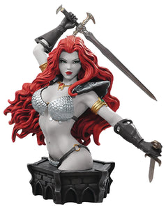 Red Sonja by Arthur Adams Bust (Black & White Version)