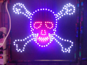 LED Animated Sign - Skull