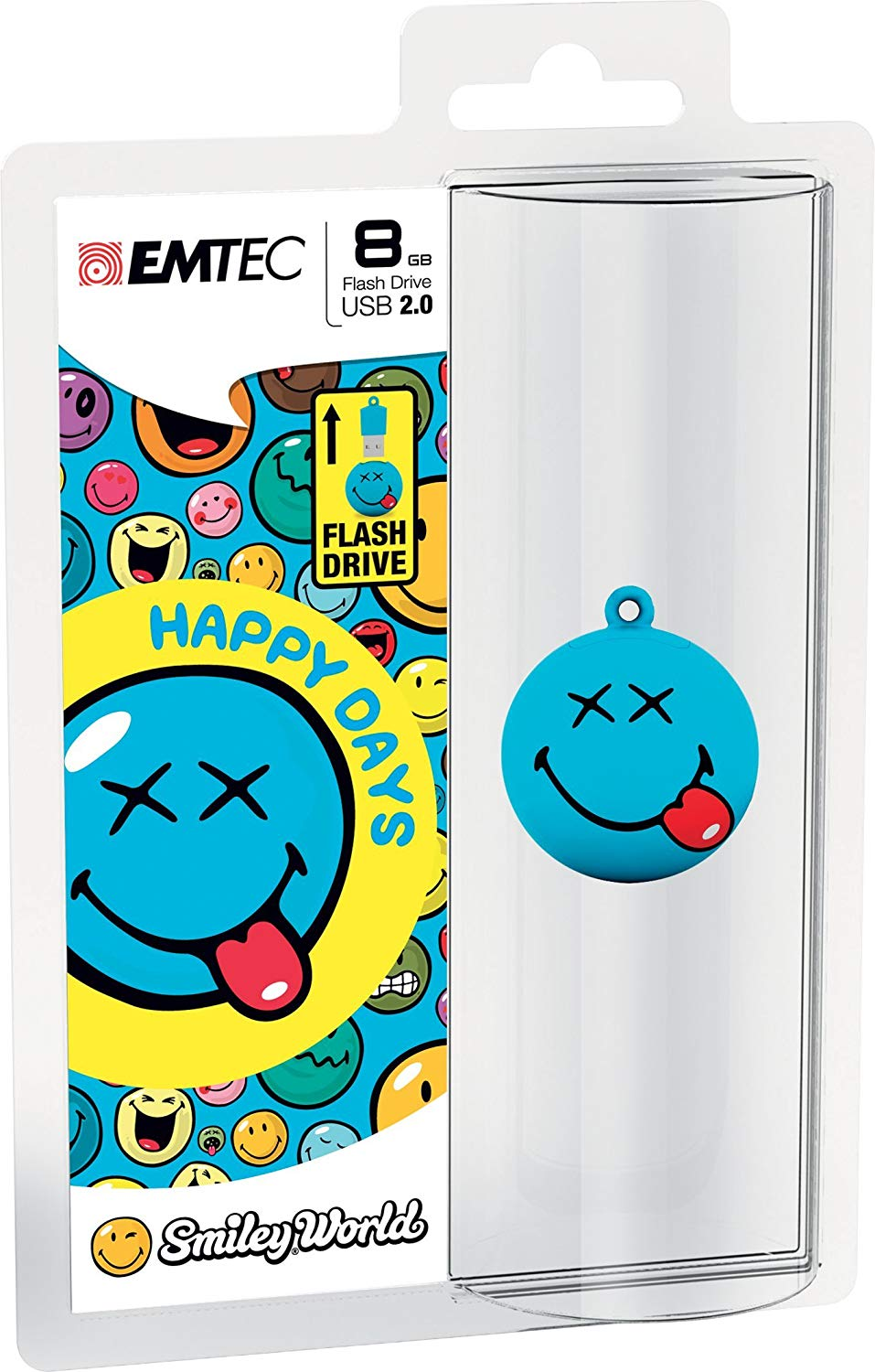 Smiley World 8 GB USB 2.0 Flash Drive