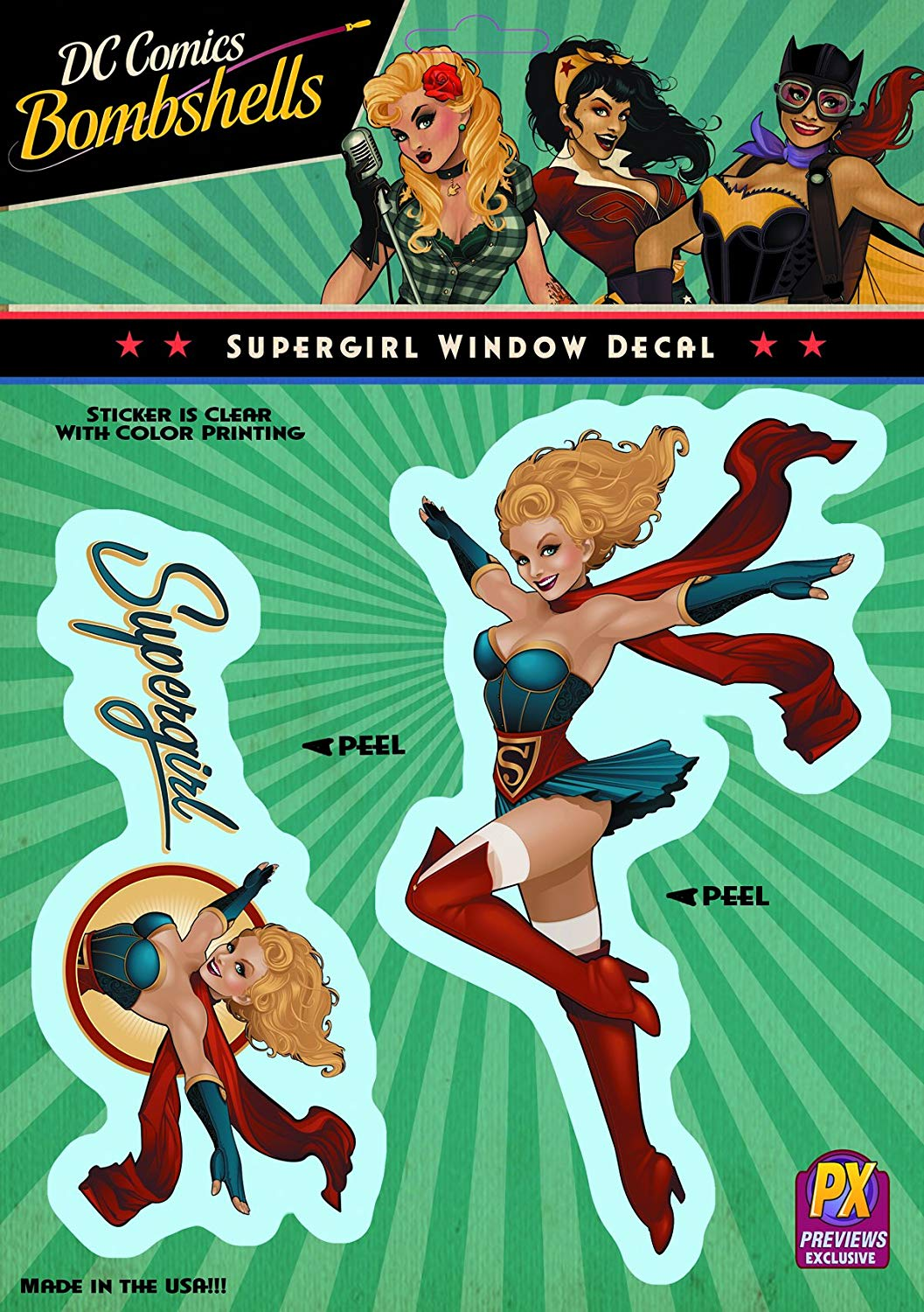 DC Bombshells: Supergirl Vinyl Decal