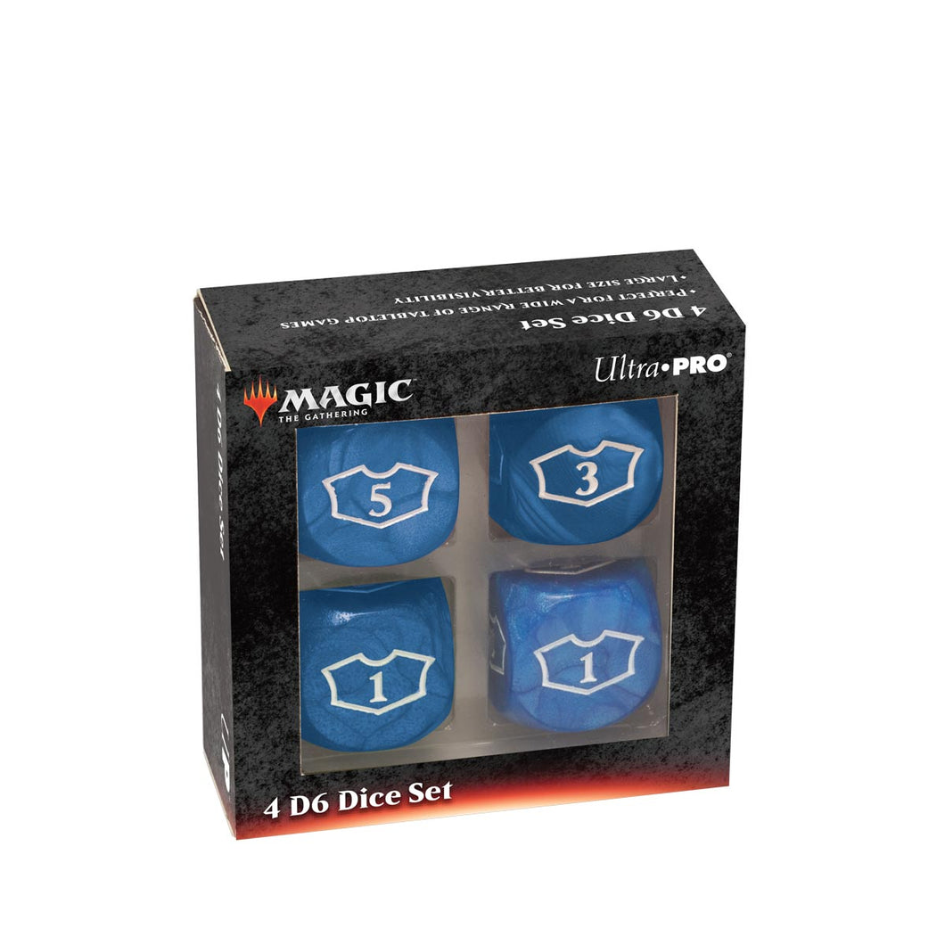 Deluxe 22MM Blue Mana Loyalty Dice Set for Magic: The Gathering
