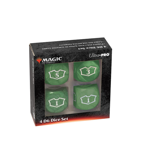 Deluxe 22MM Green Mana Loyalty Dice Set for Magic: The Gathering