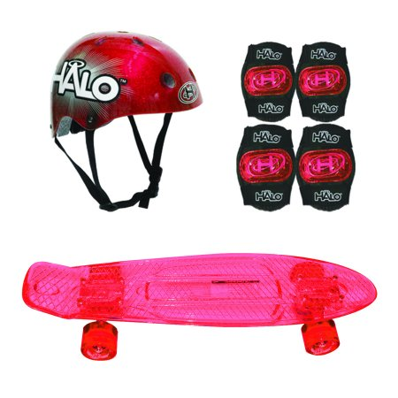 Halo 6-Piece 23 Inch Skateboard Combo Set