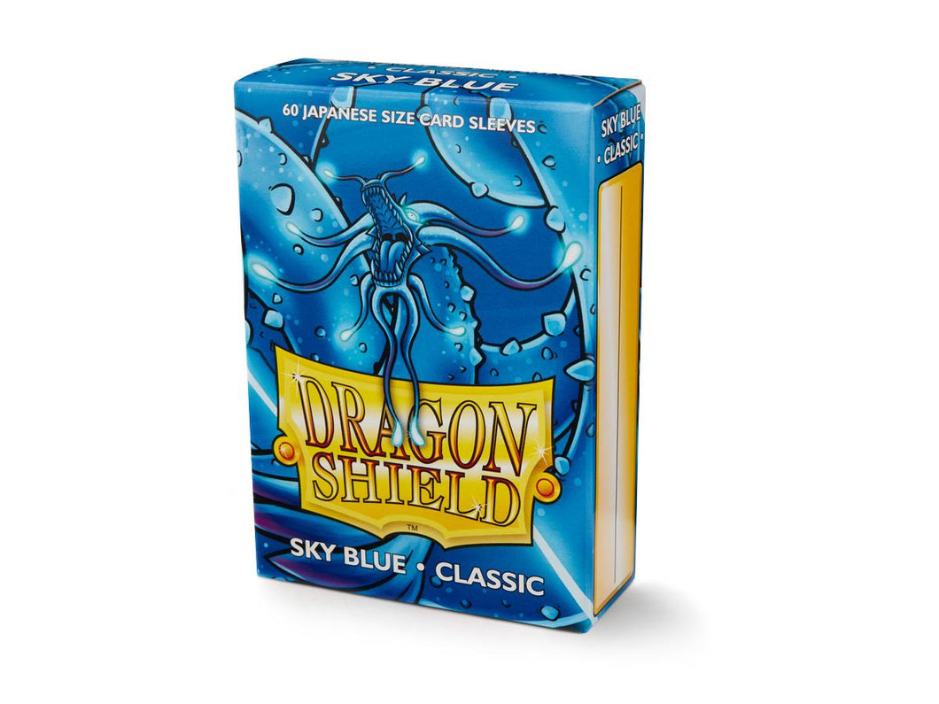 Dragon Shield Sky Blue 'Seiryu' Classic Sleeves – 60 Japanese Size
