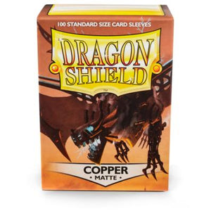 Dragon Shield Copper 'Draco Primus' Matte Sleeves - 100 Standard Size