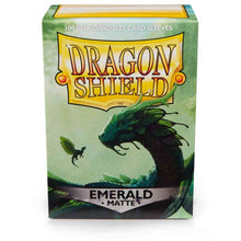 Load image into Gallery viewer, Dragon Shield Emerald 'Rayalda' Matte Sleeves - 100 Standard Size