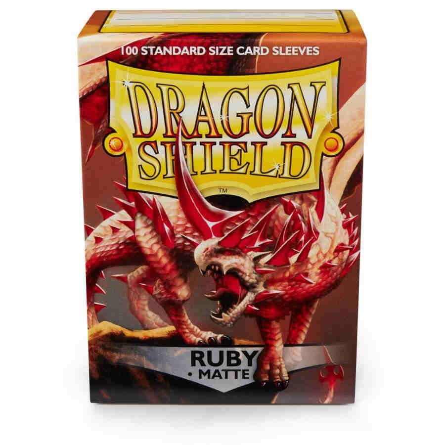 Dragon Shield Ruby 'Rubis' Matte Sleeves - 100 Standard Size