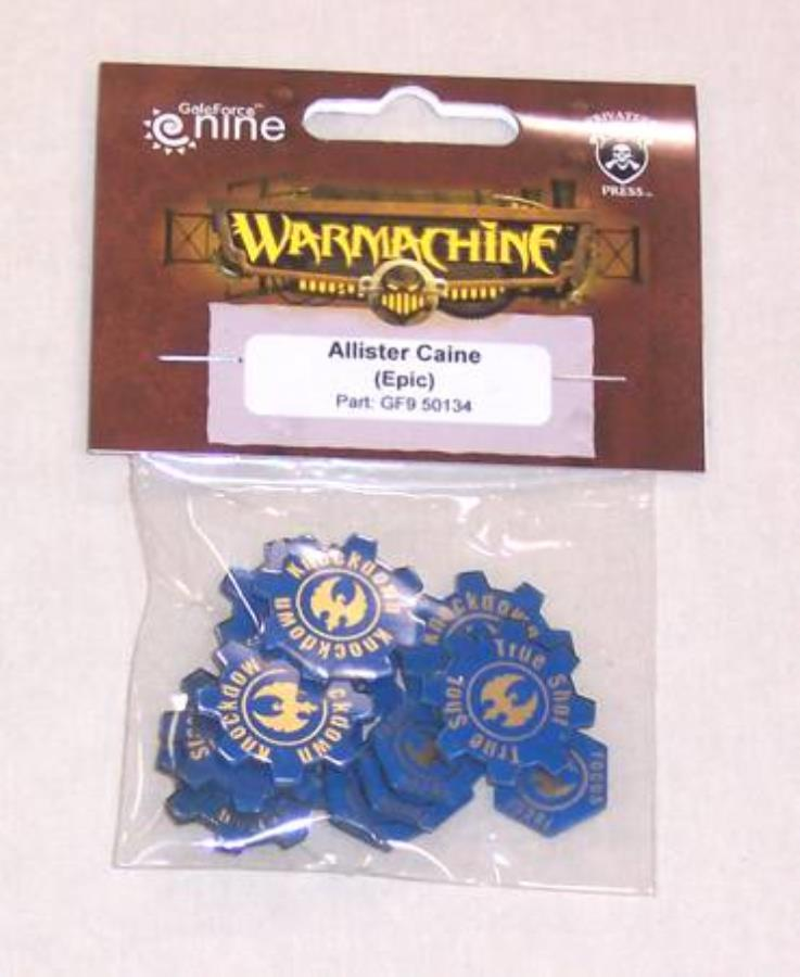 Warmachine: Allister Caine (Epic) Tokens