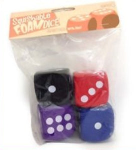 Squishy Dice Set, 4d6 pips