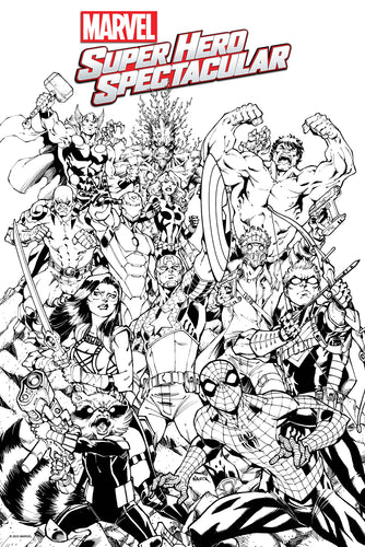 Marvel Super Hero Spectacular Coloring Poster