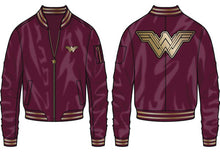 Load image into Gallery viewer, Wonder Woman Logo Bomber Jacket