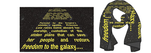 Star Wars: Episode IV 40th Anniversary - Opening Crawl Scarf & Pin Set