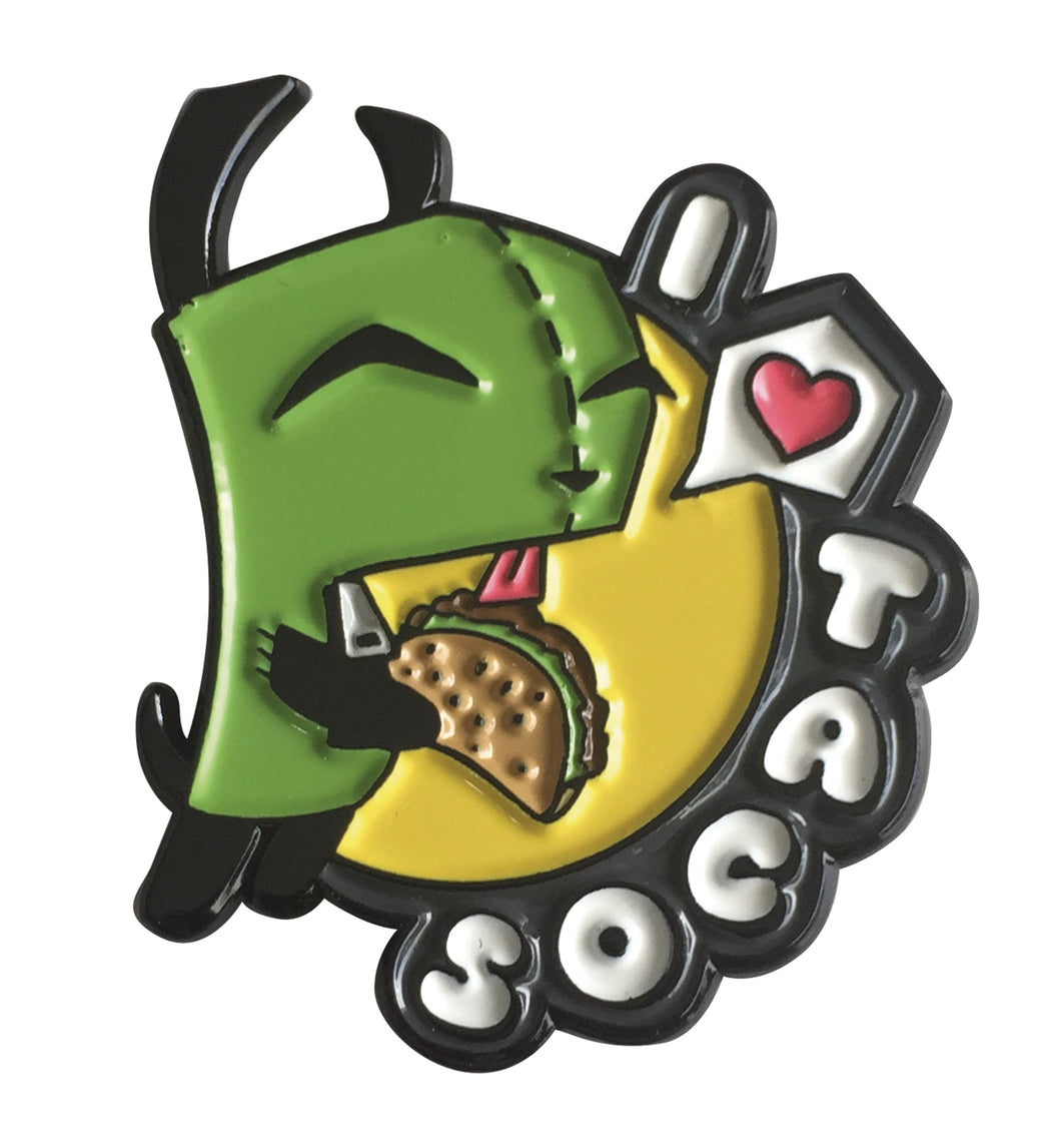 Invader Zim - I Love Tacos Collectible Pin