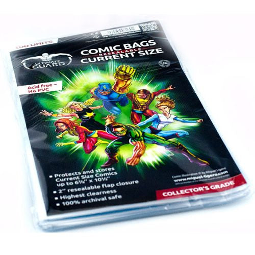 Comic Bags: Resealable - Current Size (100)