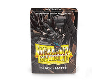 Load image into Gallery viewer, Dragon Shield Black 'Sokush' Matte Sleeves – 60 Japanese Size