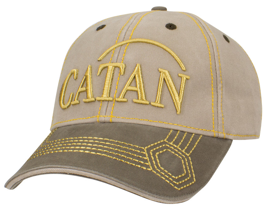 Catan: Baseball Hat, Embroidered - Wood (Khaki/Olive)