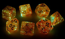 Load image into Gallery viewer, Chessex Dice - Lab Dice: Poly Set Festive Flare/white (7)