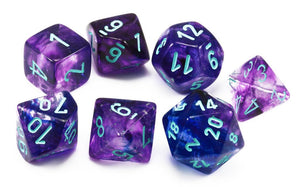 Chessex Dice - Lab Dice: Poly Set Nebula Nocturnal/Blue (7)