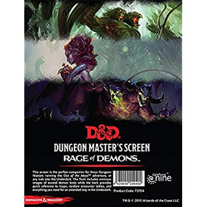 Dungeons And Dragons RPG: Rage of Demons - Dungeon Master's Screen