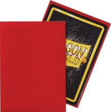 Load image into Gallery viewer, Dragon Shield Crimson 'Logi' Matte Sleeves - 100 Standard Size