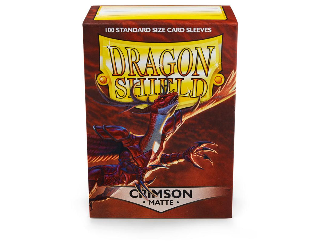 Dragon Shield Crimson 'Logi' Matte Sleeves - 100 Standard Size