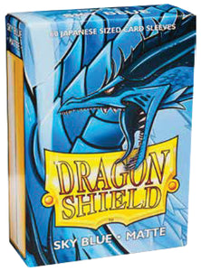 Dragon Shield Sky Blue 'Searinn' Matte Sleeves – 60 Japanese Size