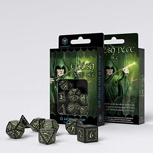 Glow in the Dark Elvish Dice